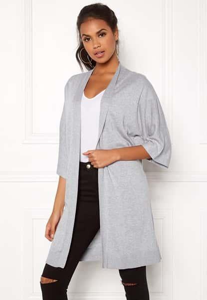 vila-lesly-34-sleeve-knit-cardigan-light-grey-melange