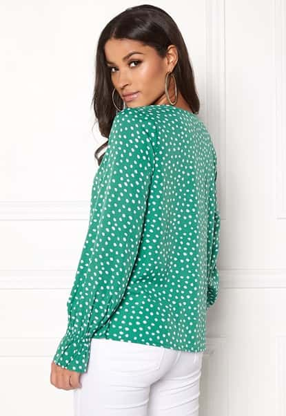bubbleroom-elma-blouse-green-white-dotted_2