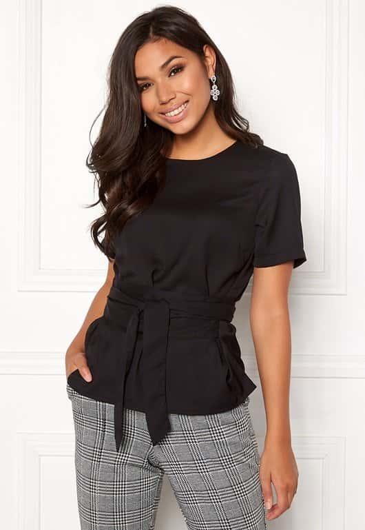 bubbleroom-maddie-tie-blouse-black