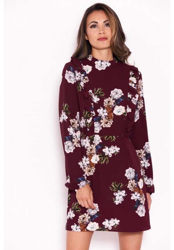 Plum-Floral-Dress-With-Frill-Detail-4-850×1218