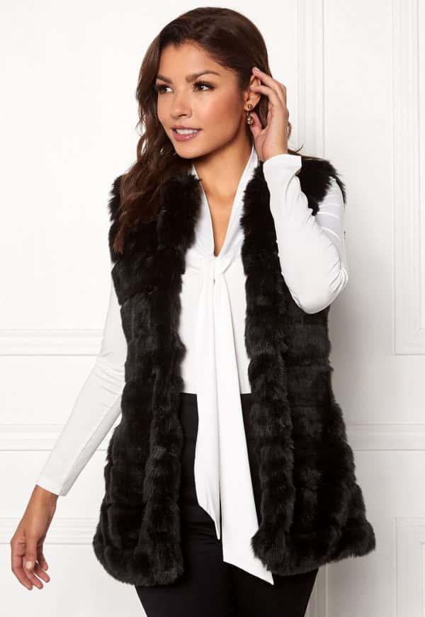 chiara-forthi-bologna-faux-fur-waistcoat-black