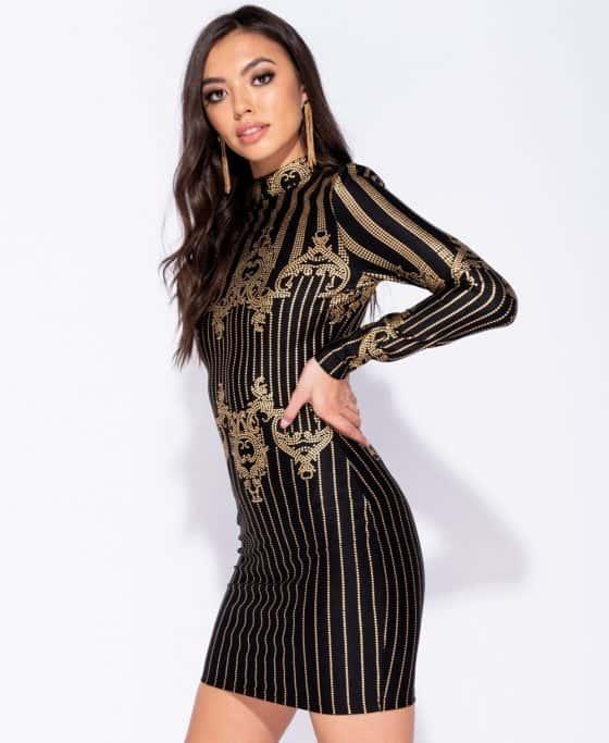 metallic-print-high-neck-bodycon-mini-dress-p5879-176382_image