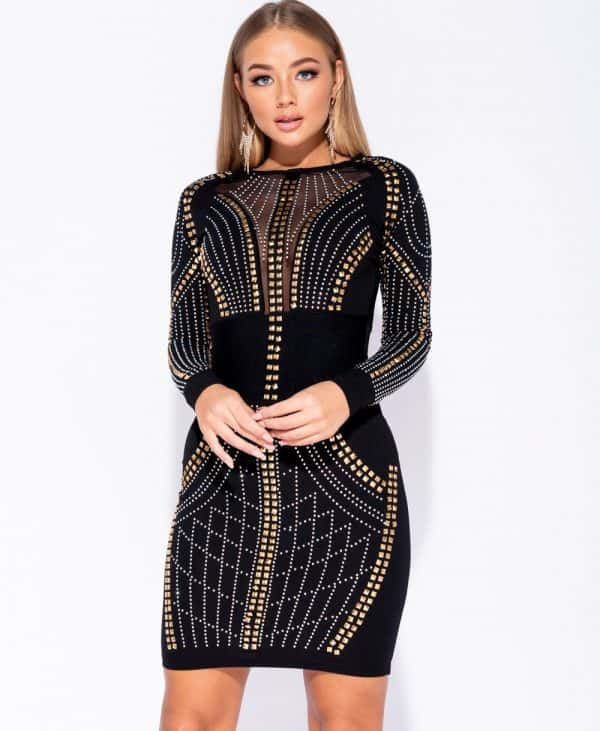 multi-stud-trim-mesh-panel-bodycon-dress-p5969-180182_image