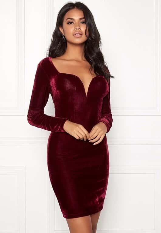 bubbleroom-viva-velvet-dress-red