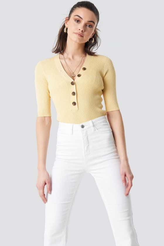 nakd_ribbed_button_short_sleeve_top_yellow_1100-001632-0404_01a