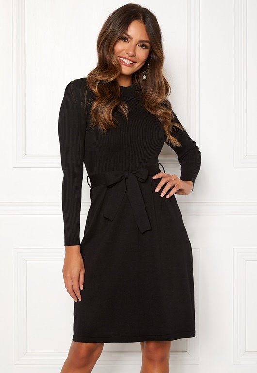happy-holly-cecile-knitted-dress-black