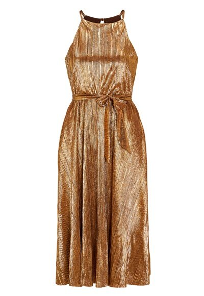 make-way-calista-pleated-dress-bronze