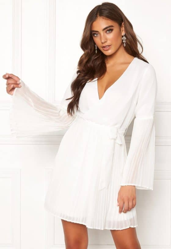 bubbleroom-paulinn-pleated-dress-white