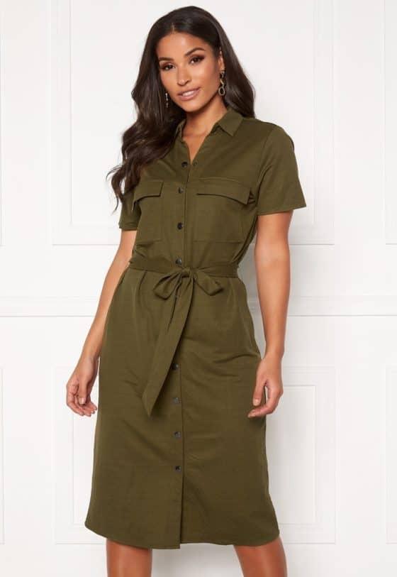 vila-safina-ss-short-dress-noos-dark-olive