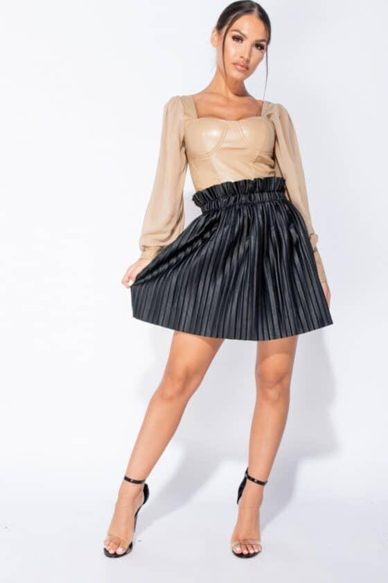black-pu-paperbag-waist-pleated-mini-skirt-p9015-946167_image