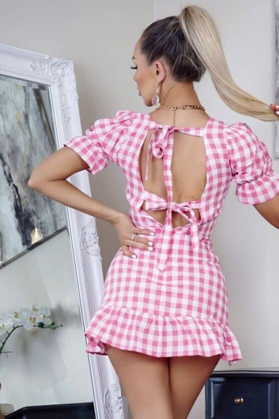 white-pink-gingham-check-back-tie-detail-puff-sleeve-mini-dress-p8656-907114_image